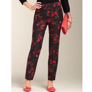 Talbots Silk Rose Ankle Pants